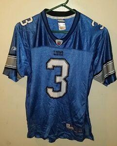 Image is loading Reebok-Blue-Joey-Harrington-Detroit-Lions-Football-Jersey- d4c6d9125
