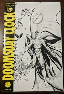 Doomsday Clock 1 Gary Frank Black And White Cover Watchmen Dc