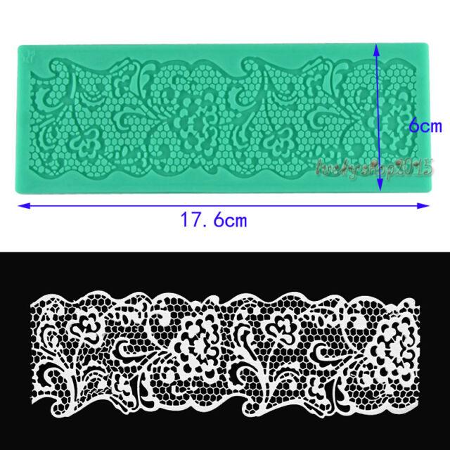 Lace mat silicone mould fondant cake sugarcraft decoration tool baking mold
