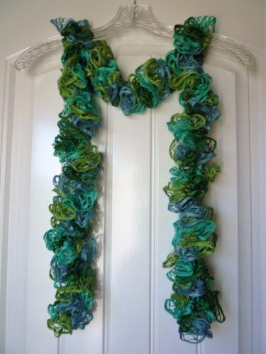 Sea Glass Handmade Crocheted Fashion Ruffle Scarf