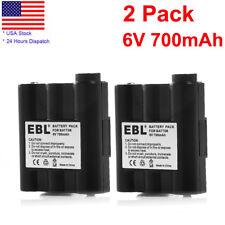 2x 700mAh Battery For Midland Radio AVP-7 BATT5R GXT1000VP4 GXT400VP4 GXT895VP4