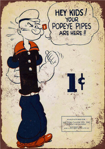 Metal Tin Sign your popeye eyes are here Decor Bar Pub Home Vintage Retro