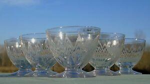 Vallerysthal-Meisenthal-Service-de-6-verres-en-verre-cristalin-grave-H6-5