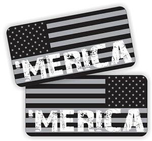 MERICA Black Ops American Flag AR-15 Lower Decals Hard Hat Helmet Stickers 5.56