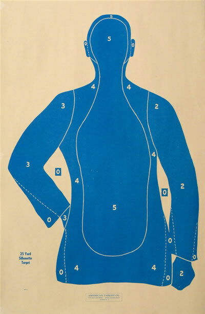 100 Shooting Targets Law Enforcement Police Silhouette 23