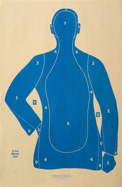100 Shooting Targets Law Enforcement Police Silhouette 23 x35  25 yard B-21-E-BU