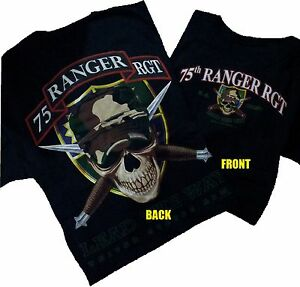 U S Army 75th Ranger Regiment Military T Shirt Ebay