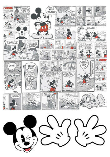 Mickey Mouse Comics Cartoon illustration Icing Gaufre Comestible Cake Topper A4 T