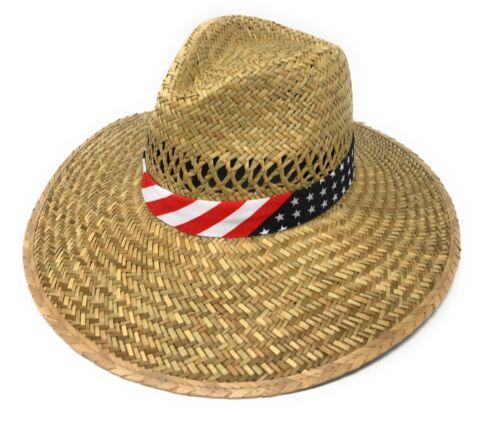 Stylish Straw Hats Caps Lifeguard Sombrero Postal Sun Beach Wide Brim Unisex