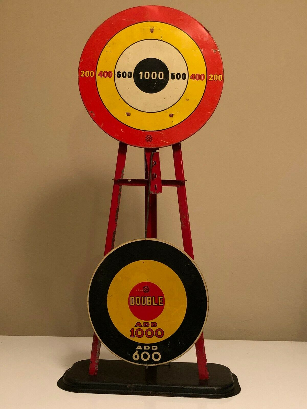 Vintage Antique MARX Tin Wind Up Swinging Target Shooting Game