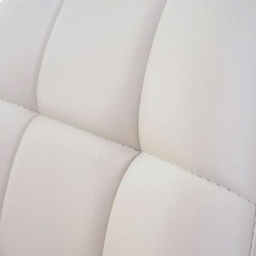 Kunstleder creme Fuß gebürstet Drehstuhl Stuhl 2x Esszimmerstuhl MCW-A60
