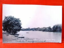 Postcard IA New London Country Club Scene Iowa RPPC Real Photo