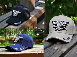 51af8d7b077 United States US Navy Seals Trident Seal Military Baseball Ball Cap ...