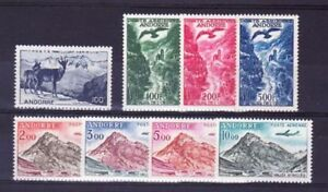 """8 """" 8 Stamps Isard Eagle Plane """" Mnh Vvf Generous French Andorra Yvert Air Mail 1 Stamps Europe"""
