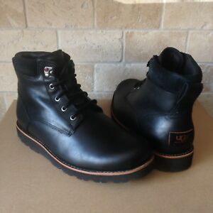 ed4ec97f74d Details about UGG SETON TL BLACK WATERPROOF LEATHER SHEEPSKIN WORK BOOTS  SHOES SIZE US 12 MENS