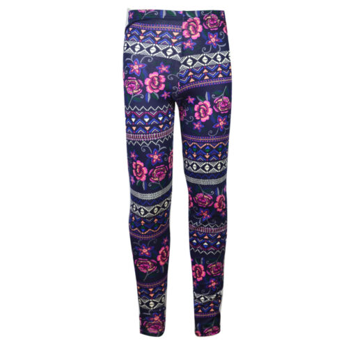 New Girls Kids Animal Floral  Printed Leggings Various Sizes 7-13 Years