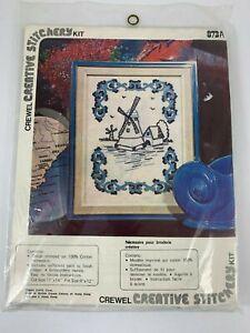 Vogart-Creative-Stitchery-Vintage-Crewel-Embroidery-Kit-Dutch-Windmill-873A