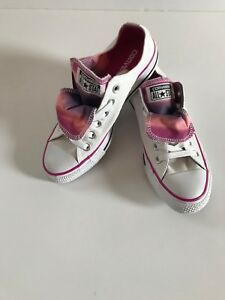 5466fb0f5e01 CONVERSE CT All Star White Pink Double Tongue 552581F Women s US 7 ...