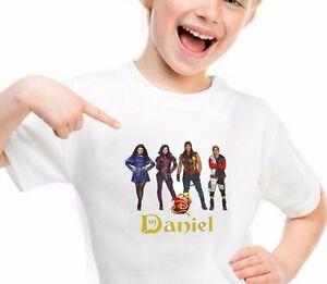 Disney descendants personalized t shirt birthday gift for Custom t shirts add photo
