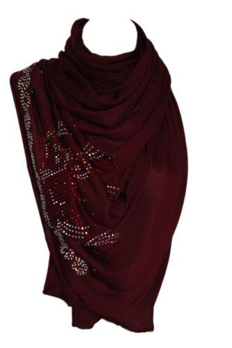 Trikot Strass Dehnbar Schal Wickeltuch Stahl Hijab Kopf Schal
