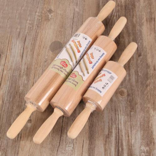 Kitchen Wooden Rolling Pin Fondant Cake Dough Roller Baking Kitchen Cookin VXU