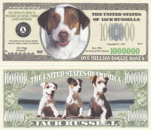 10 Jack Russell Terrier Dog Novelty Currency Bills # 325