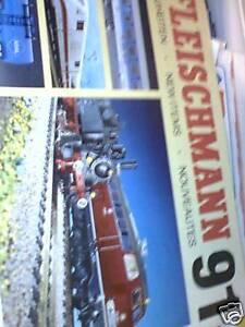 Catalogo treni novità Fleischmann 1991