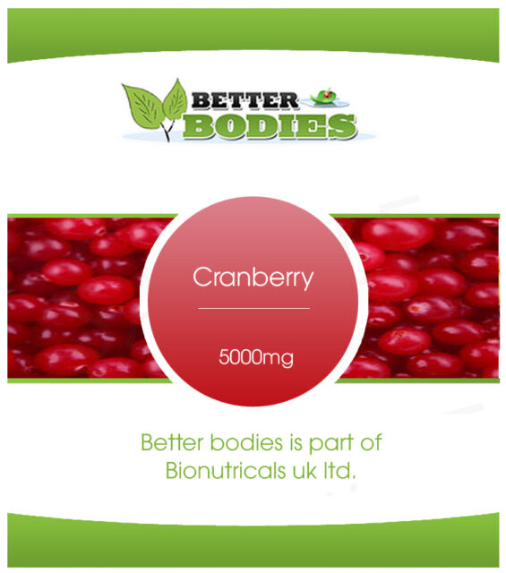 Cranberry 5000mg Tablets Better Bodies UK Vitamins