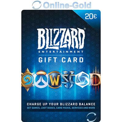 BattleNet Tarjeta de regalo 20 EUR llave- ?20 Euro Blizzard Código prepago EU/ES