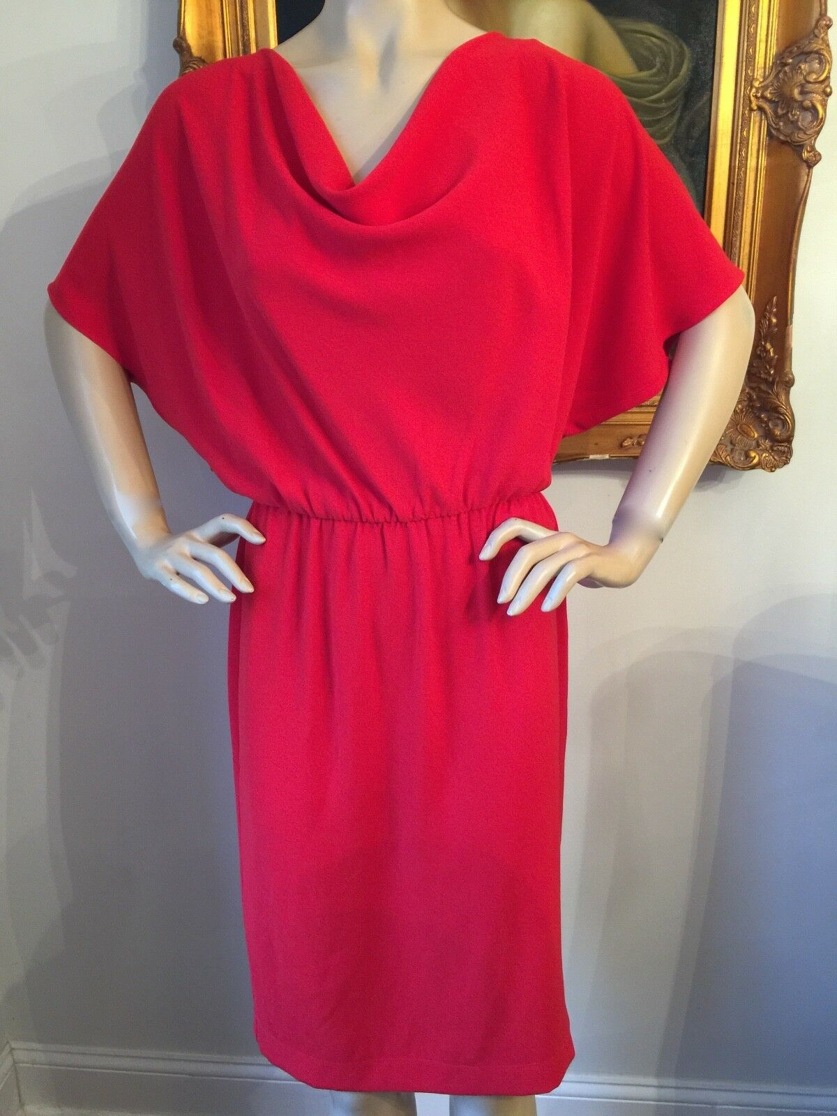 St John  Knit size 4 6 bright red polyester dress