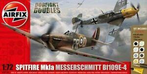 Airfix-Supermarine-Spitfire-Mk-IA-Messerschmitt-Bf-109E-Dogfight-Set-1-76