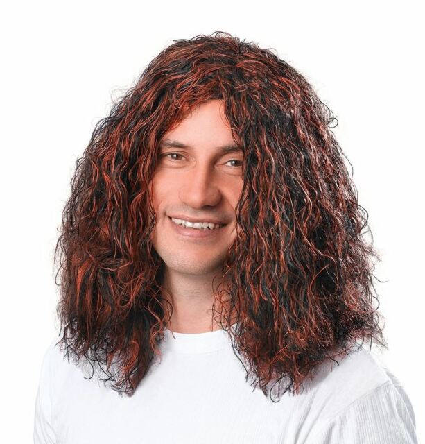 Hippy Style Fancy Dress Costume Wig Adult Bristol Novelty 60s Red