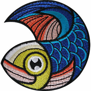 Fish-Patch-Iron-On-Sew-On-Clothes-Biker-Motorbike-Motorcycle-Embroidered-Badge