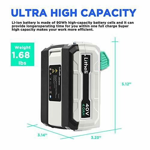 Extended Capacity Battery Pack For LiTHELi 40VOLT 4.0AH Lithium-Ion Li-Ion