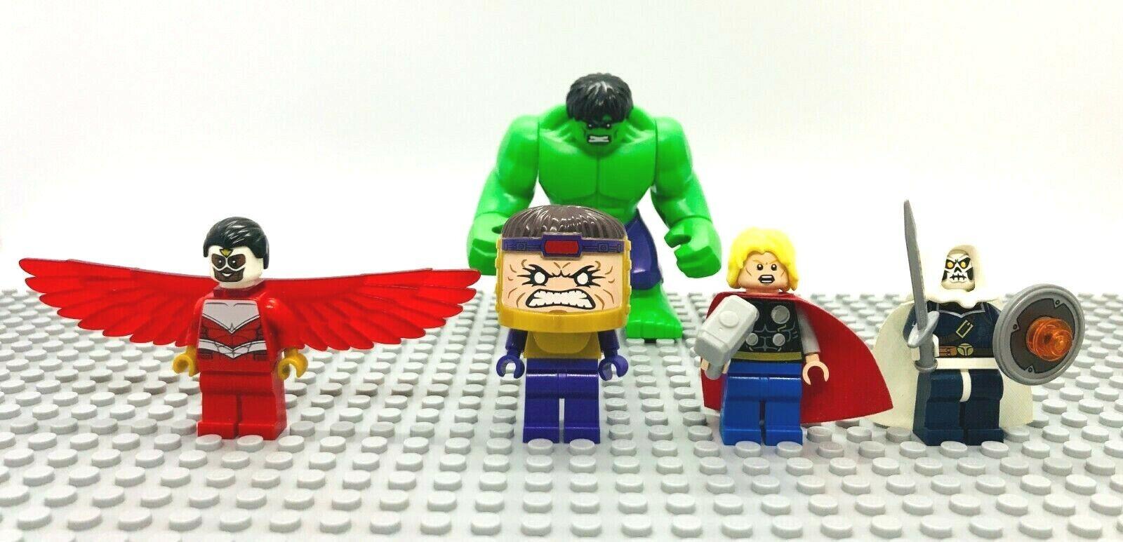 Lego Hulk Falcon MODOK Taskmaster Thor Minifigures 76018 Super Heroes Avengers
