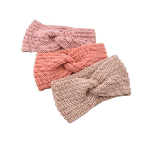 Details about  /Women Ladies Winter Wool Cross Crochet Knitted Wool Headband Hair Band Pretty