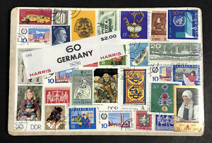 """Vintage Harris Stamp Packet """"60 Germany"""" Used Stamps All Different C-922"""