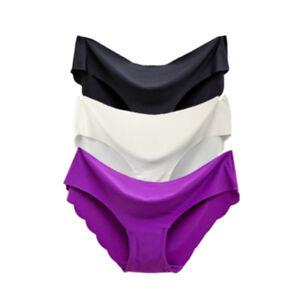 Lot-3PCS-Women-039-s-Seamless-Ultra-Thin-Briefs-Panties-Hipster-Underwear-Lingerie