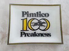 RARE!! 100th Preakness Glass Tray Pimlico Race Track Baltimore Maryland MD