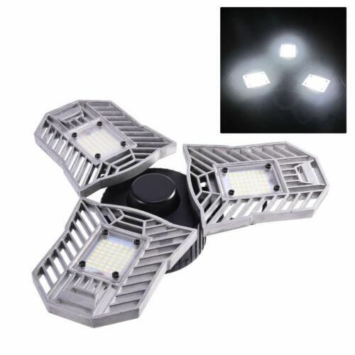 Deformable Tri-Fold Lamp LED Adjustable Three Light Garage High Bay 6000K 3000K