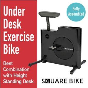 U.S. Jaclean Felicity Exercise Under Desk Bike for Home Office Square Bike