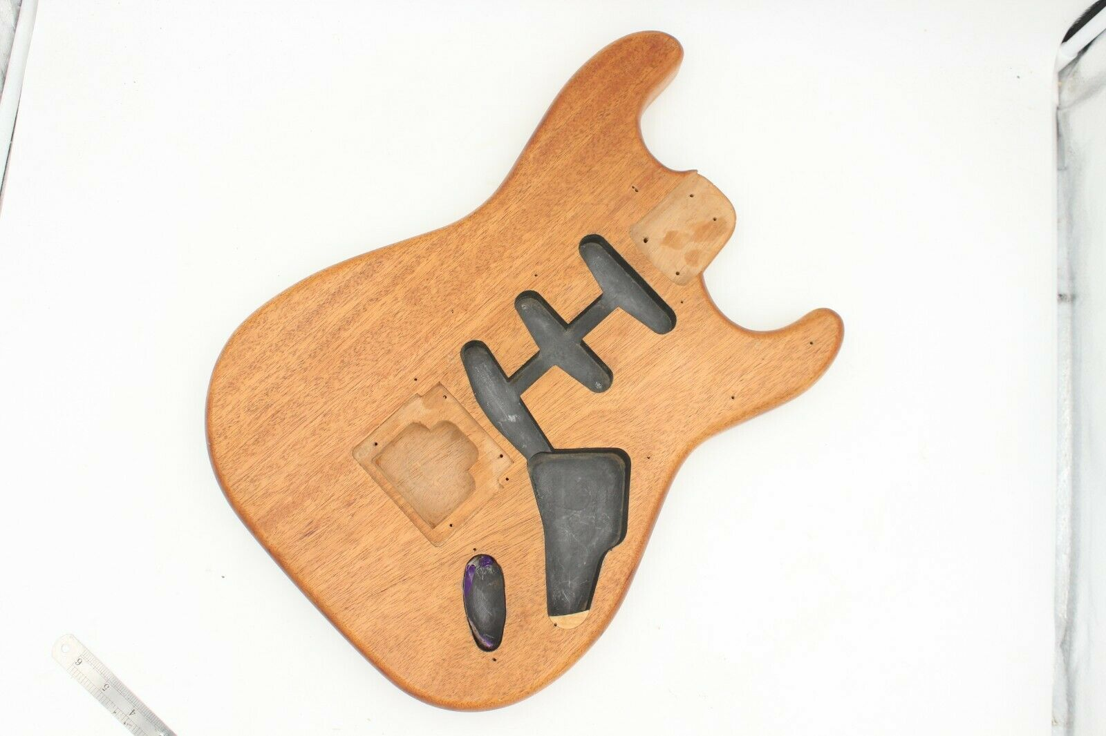 Unknown Mahogany Strat Style Guitar Body, routed for Khaler