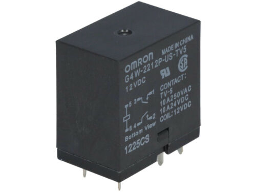 G4W-2212P-US-TV5 12DC  OMRON  Relais  Relay  DPST-NO 12VDC  8A  360R  #BP 2 pcs