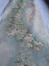 N216  Vintage Japanese Silk Kimono Fabric/ Quilt Craft / 100cm