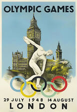 Art Olympic Games London 1948   Poster Print