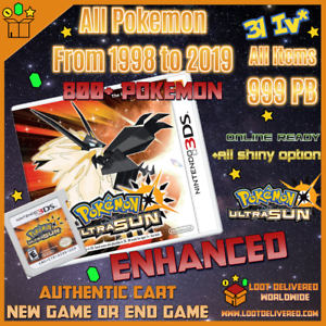 Pokemon-Ultra-Sun-Pokemon-Home-Living-Dex-Unlocked-All-807-Shiny-Nintendo-3DS