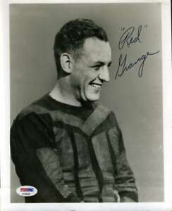 Red-Grange-Psa-Dna-Coa-Autograph-8x10-Photo-Hand-Signed-Authentic