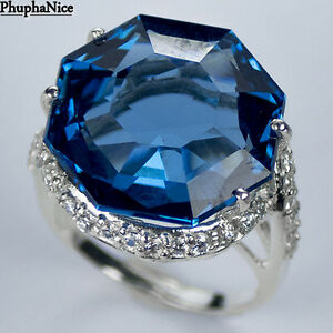 SPARKLING-925-Silver-Ring-SWISS-BLUE-TOPAZ-MAIN-STONE-22-15-CT-PH0929