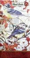 Punch Studio Set Of 16 Guest Towels/buffet Paper Napkins - Bluebirds