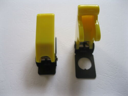 6 pcs Safety Flip Cover for Toggle Switch Opaque Yellow New